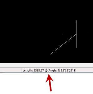 IntelllliCAD Coordinate Display