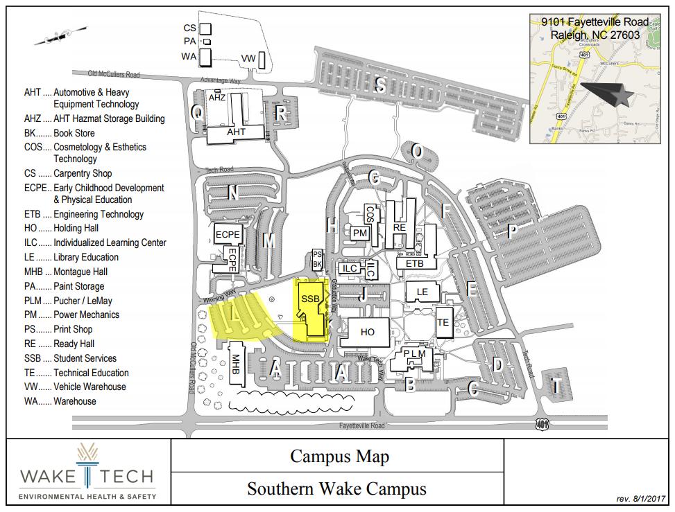 Wake Tech Campus Map Park Ideas